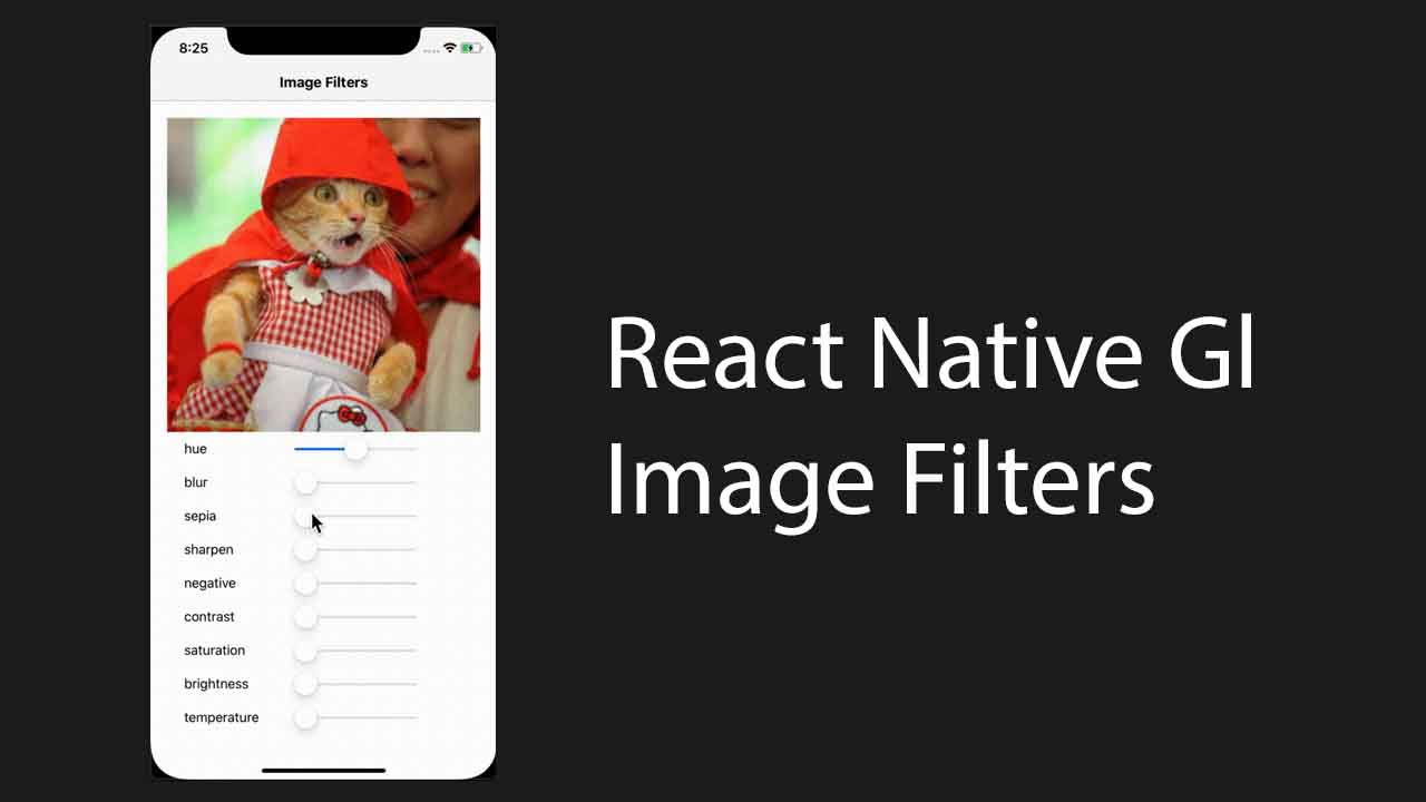 React-Native Image Filters using Gl-react